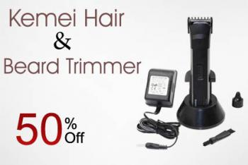 kemei hair and beard trimmer in pakistan hitshop. Black Bedroom Furniture Sets. Home Design Ideas