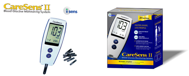 Blood Glucose Meter CareSens II