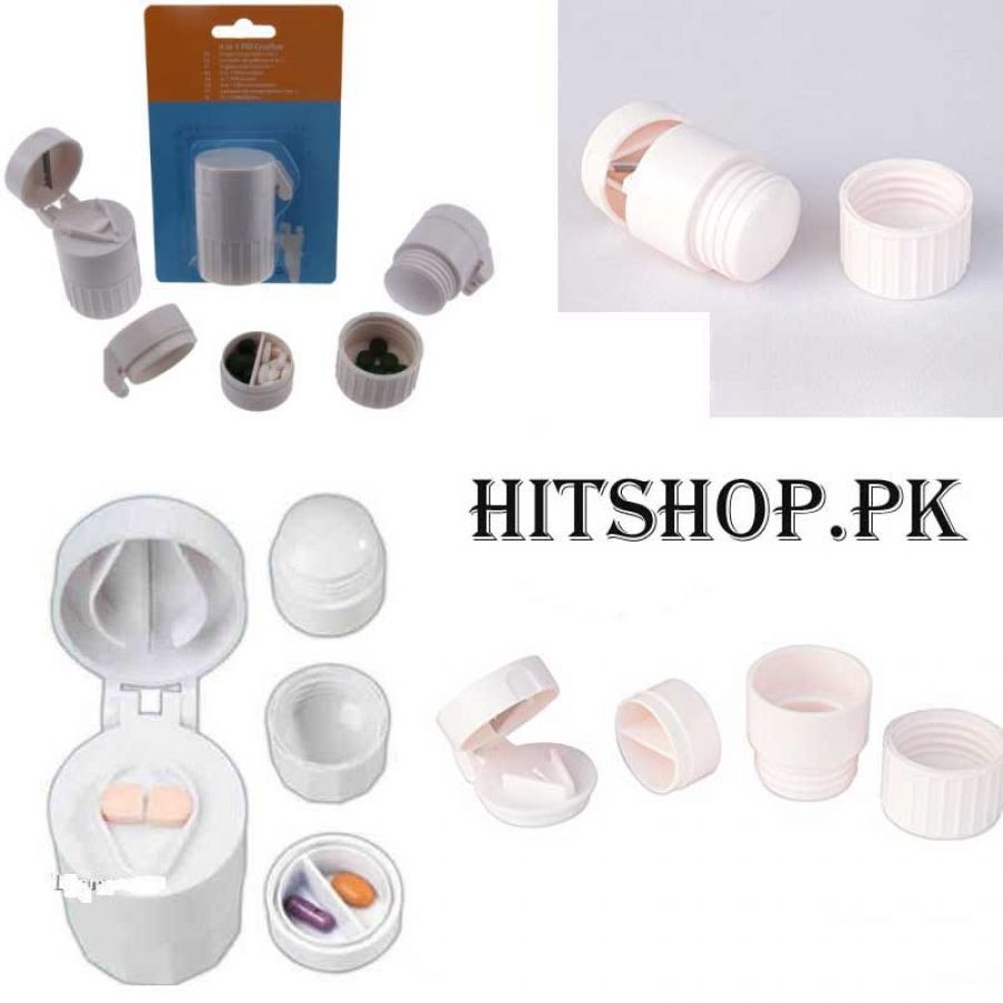 4in1 Pill Tablet Cutter And Crusher