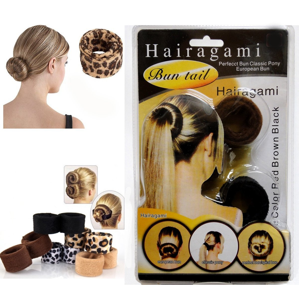 Ladies Hairagami Bun Tail Styling
