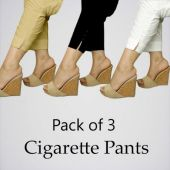 Women Pack Of 3 Cigarette Pants