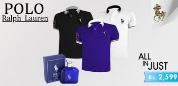 Polo Ralph Lauren 3  Shirts with Polo Perfume