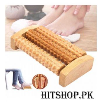 3 Rows Wooden Foot Massage Roller
