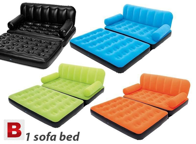 Coloring Lounge Air Sofa Bed 5 in 1 with Air Pump