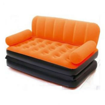 Colourfull Air Lounge Double Sofa Cum Bed 5 In 1