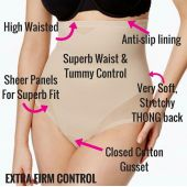 Woman Half Body Shaper Waist Slimming Control Brie