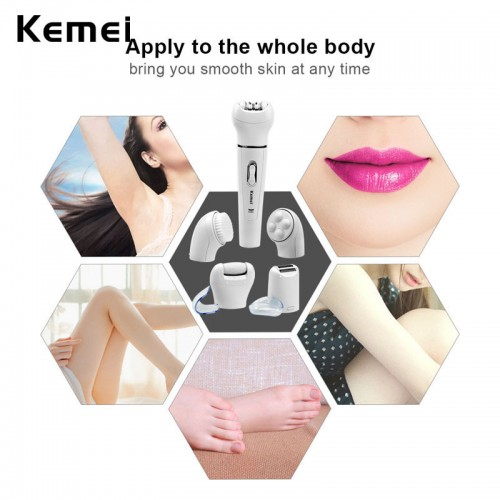 Original KEMEI 5 In 1 Beauty Hair Epilator Tools K