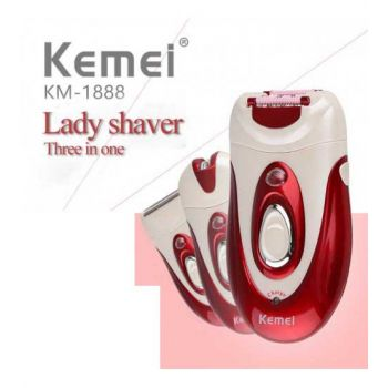Kemei 3in1 Professional Lady Rechargeable Epilator