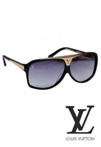 LOUIS VUITTON EVIDENCE BLACK SUNGLASSES (BOX & POU