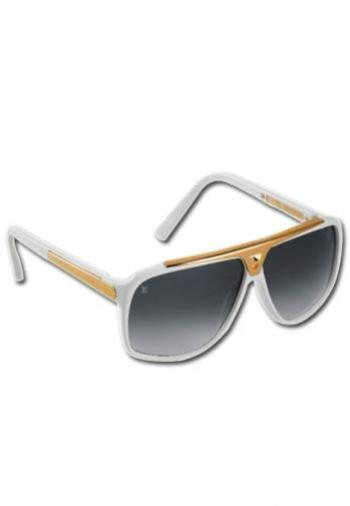 LOUIS VUITTON WHITE EVIDENCE SUNGLASSES (BOX & POU