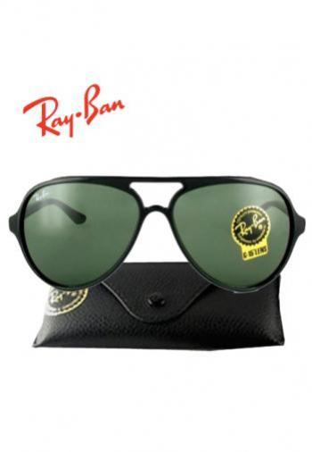 RAYBAN CATS BLACK FRAME SUNGLASSES (BOX & POUCH)
