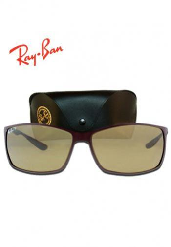 RAYBAN LITEFORCE TECH BROWN LENS SUNGLASSES (BOX &