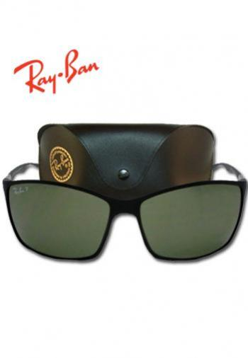 RAYBAN LITEFORCE TECH GREEN LENS SUNGLASSES (BOX &