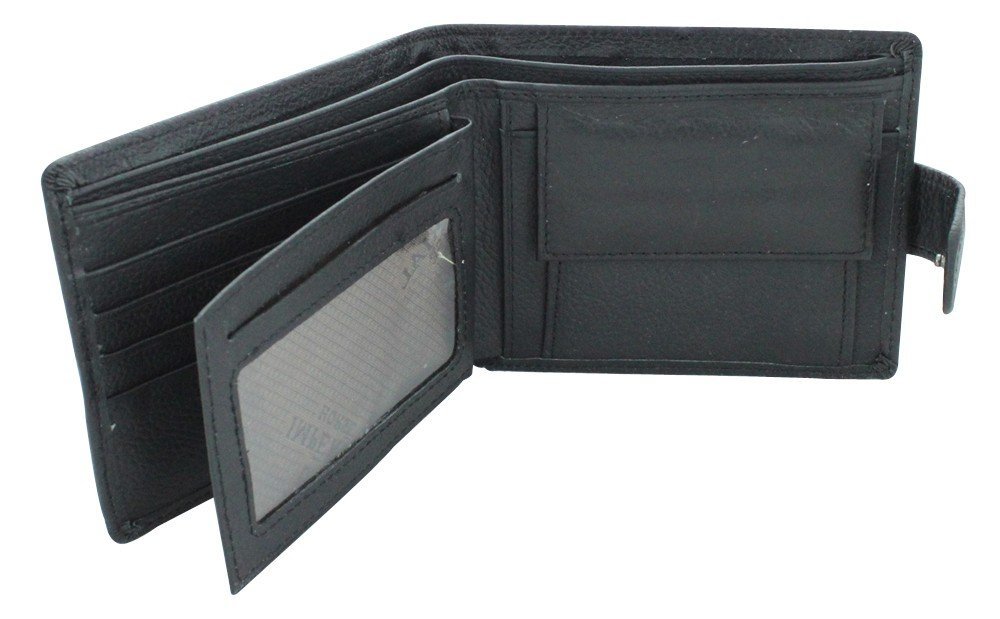 New Imperial Horse Black Wallet With Flap Clip