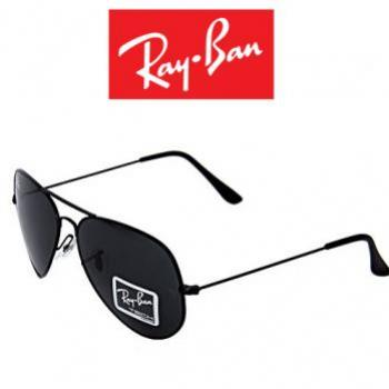 RAY BAN AVIATOR STYLE BLACK SUNGLASSES RB3026