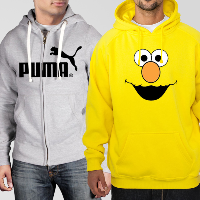 Bundle of Hoodies: Grey Puma + Yellow Elmo