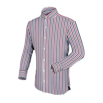 Apparel Red & Blue Stripes Basic Casual Shirt Code