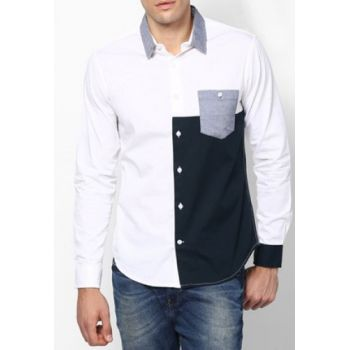 Apparel White With Black Patch Contrast Designer S
