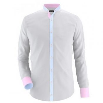 Envogue Apparel Light Grey Casual Shirt With Pink