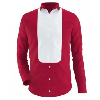 Envogue Apparel Red Casual Shirt With White Patch