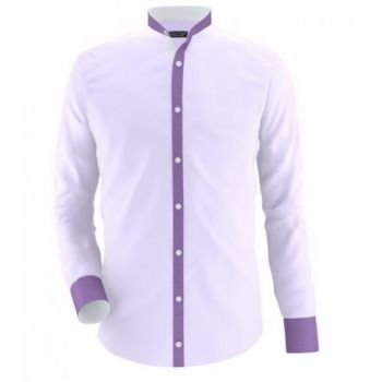 Envogue Apparel Sherwani Collar Style Violet Casua
