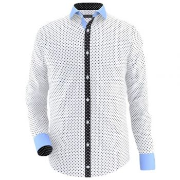 Envogue Apparel White Polka Dot Contrast Shirt