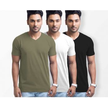 Pack of 3 V Neck T-Shirts