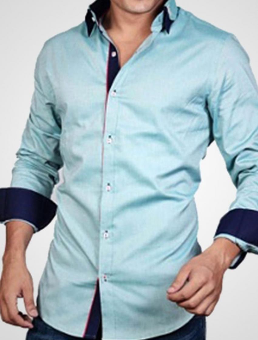 CLEARANCE SALE OF LIGHT GREEN DESIGNER SHIRT WITH