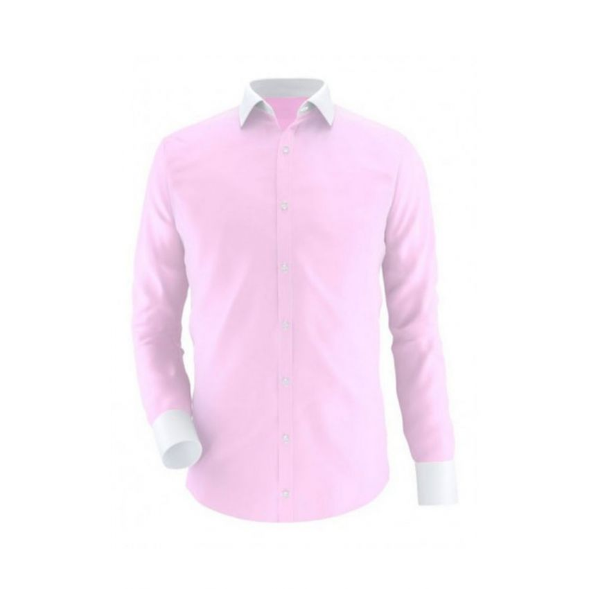 Pink With White Contrast Semi Formal Shirt Code Oxford