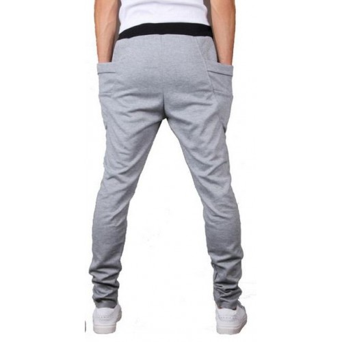 Heather Grey Baggy Tapered Bandana Pant For Him