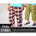 PACK OF 4 CHECKERED SHORTS