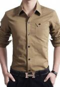 CLEARANCE SALE OF CASUAL SHIRT IN BROWN COLOR