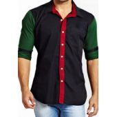 Apparel Black With Red Green Contrast Designer Shi