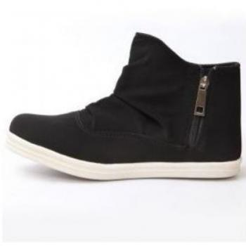 SIDE ZIPPER SHOES BLACK