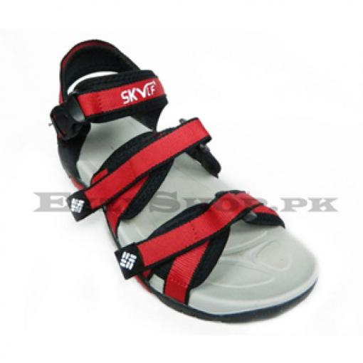 MEN FANCY RED STRAP SANDAL
