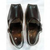 PURE BLACK LEATHER PESHAWARI CHAPPAL
