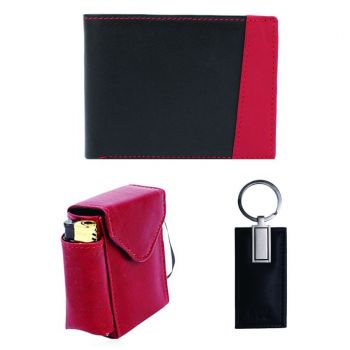 Gift For Him Leather Wallet With Cigrette Case Key