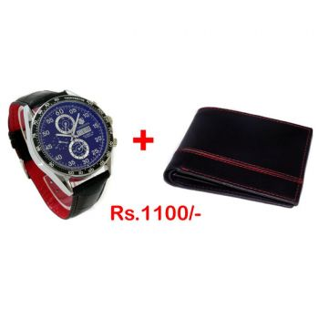 Men Wallet With A Watch