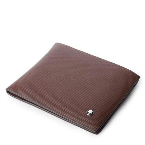 MONTBLANC TEXTURED WITH LOGO WALLET BROWN 8103