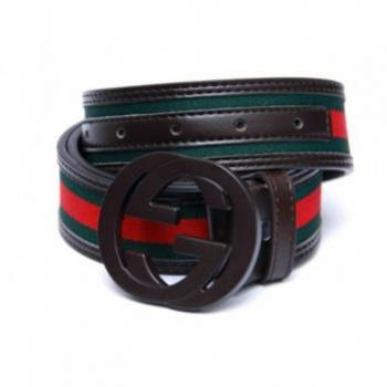 GUCCI MULTICOLOR BELT WITH BROWN BUCKLE
