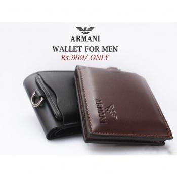 100 Genuine Cow Leather Bi- Fold Armani Men Wallet