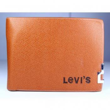 LEVIS ORANGE BROWN DECENT WALLET