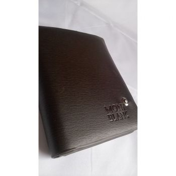 Mont Blanc Large Textured book Wallet Ar Center