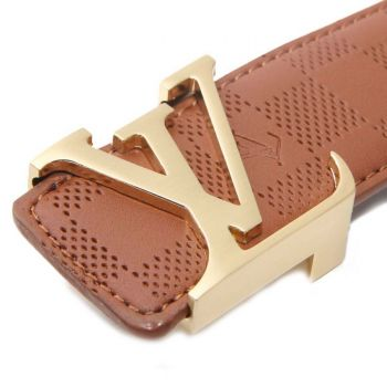 LOUIS VUITTON GOLD INITIALES BUCKLE - BROWN DAMIER