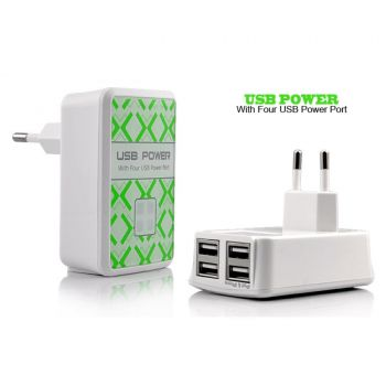 USB Power Adapter With Four USB Ports
