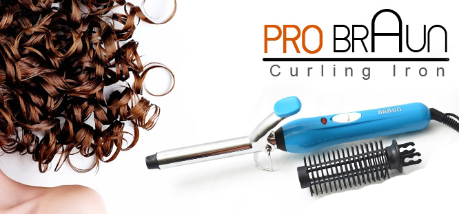 New Pro Braun Curling Iron