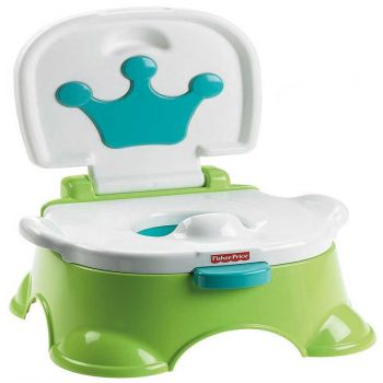 Fisher Price Royal Stepstool Potty Chair Green