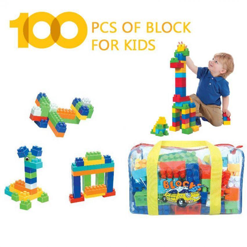 100 pcs of block game for kids in pakistan hitshop. Black Bedroom Furniture Sets. Home Design Ideas