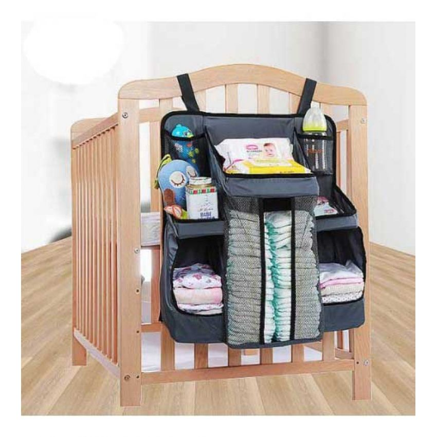 Storage For Baby Nursery Hanging Diaper Organizer – Fast Deliver Baby Crib Diaper Caddy