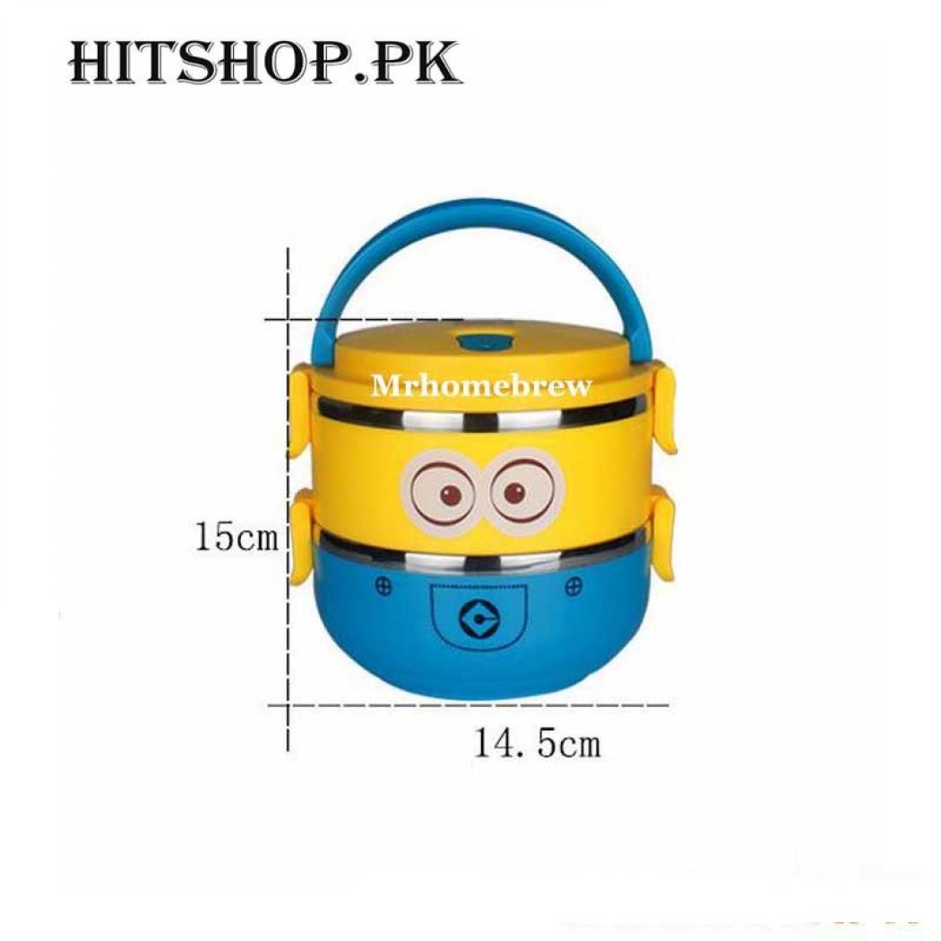 2 Layer Cute Cartoon Stainless Steel Lunch Box For